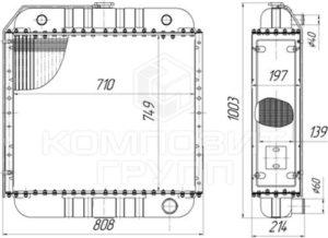 Радиатор водяной 250-1301016 для АД-200